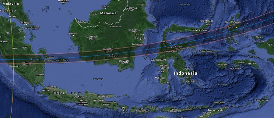 eclipse path 2016 indonesia